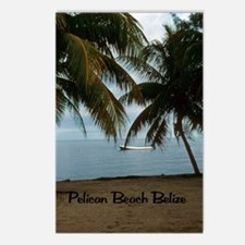 Pelican Beach Belize200 w Postcards (Package of 8)