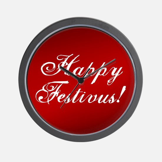 Happy FESTIVUS™ Fancy Red Wall Clock