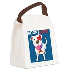 Adopt Love Canvas Lunch Bag