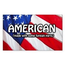American (Made With Some Forei Decal