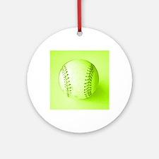 Baseball Softball Green Fathers Day Round Ornament