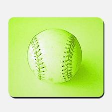 Baseball Softball Green Fathers Day Mousepad