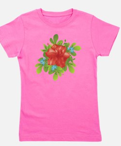 Red Hybiscus Girl's Tee