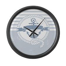 Blue Anchor Large Wall Clock