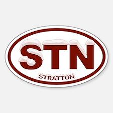 Snowcapped Stratton VT Sticker (Oval)
