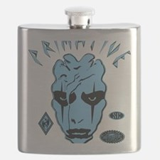 MENACE TO SOCIETY PROOF BLUE BLACK Flask