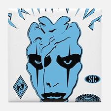 MENACE TO SOCIETY PROOF BLUE BLACK Tile Coaster