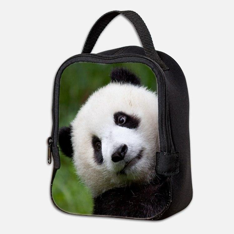 Panda Cub Neoprene Lunch Bag