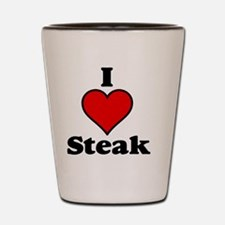 I heart steak Shot Glass