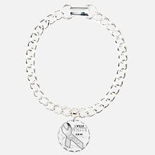 I Wear White for my Dad Charm Bracelet, One Charm