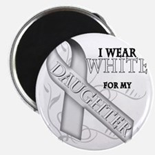 I Wear White for my Daughter Magnet