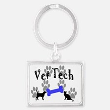 Vet Tech Landscape Keychain