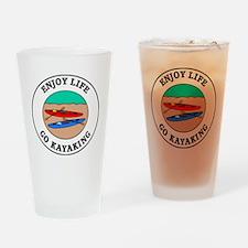 kayaking1 Drinking Glass