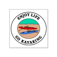 "kayaking1 Square Sticker 3"" x 3"""