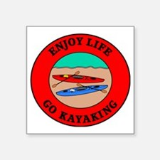 "kayaking2 Square Sticker 3"" x 3"""