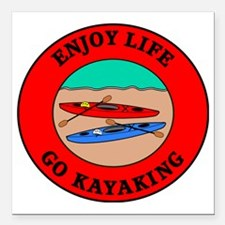 "kayaking2 Square Car Magnet 3"" x 3"""