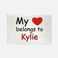 My heart belongs to kylie Rectangle Magnet
