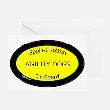 AgilityDogsSpoiledRottenOnBoard Greeting Card
