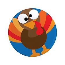 """Thanksgiving Turkey 3.5"""" Button"""