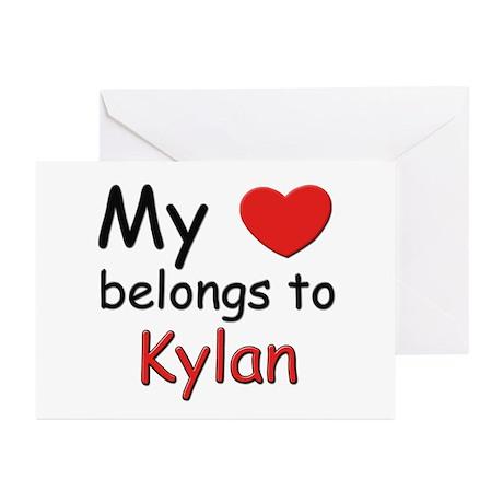 My heart belongs to kylan Greeting Cards (Package
