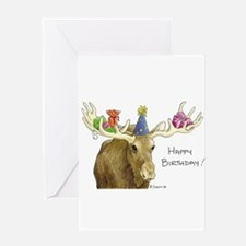 Birthday Moose Greeting Cards
