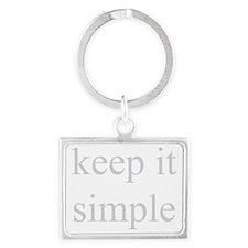 Keep-it-Simple-neg Landscape Keychain