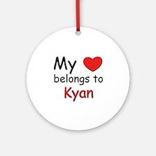 My heart belongs to kyan Ornament (Round)