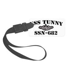 tunny black letters Luggage Tag