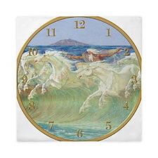 NEPTUNE HORSES CLOCK ONE Queen Duvet