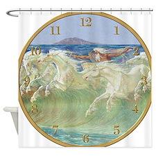 NEPTUNE HORSES CLOCK ONE Shower Curtain