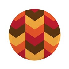 "Chevron Thanksgiving Fall 3.5"" Button (100 pack)"