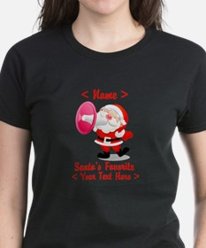 Personalize Santa's Favorite Your Text Tee