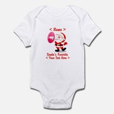 Personalize Santa's Favorite Your Text Infant Body