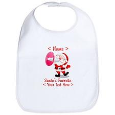 Personalize Santa's Favorite Your Text Bib
