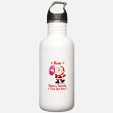 Personalize Santa's Favorite Your Text Water Bottle