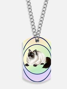 Himalayan Kitty -oval ornament Dog Tags