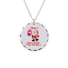 Personalize Santa's Favorite Your Text Necklace