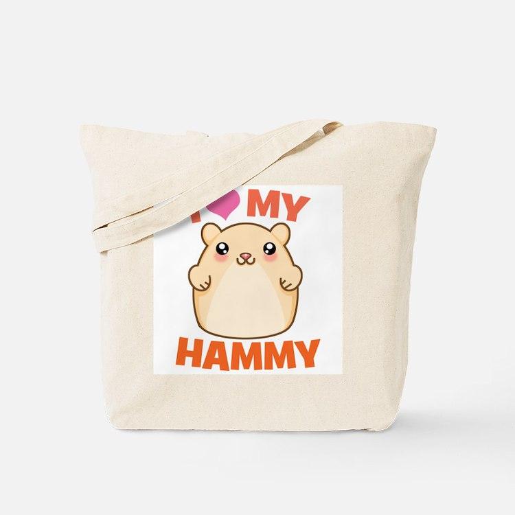 I Love My Hammy Tote Bag