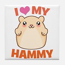 I Love My Hammy Tile Coaster
