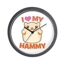 I Love My Hammy Wall Clock