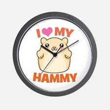 I Love My Hammy Wall Clock