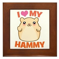 I Love My Hammy Framed Tile