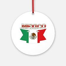flag Mexico ribbon Ornament (Round)