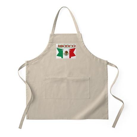 flag Mexico ribbon BBQ Apron
