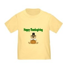 Happy Thanksgiving With Bear T-Shirt