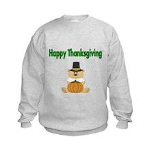 Happy Thanksgiving with Bear Sweatshirt