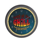 Lord Of The Grill Wall Clock