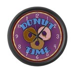 Donut Time Large Wall Clock