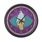 Ice Cream Cone Large Wall Clock