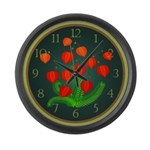 Red Lanterns Large Wall Clock